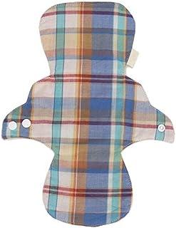 KYK Women Hygienic Feminine Skin-Friendly Washable Cloth Menstrual Pad Reusable Sanitary Napkin Panty Liner Reusable (Color : Plaid Type)