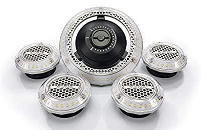 STKR Concepts MPI- Multi- Point Illumination- 7500 Lumen Motion Activated Lighting System for Garage / Attic / Basement/ Home / Office
