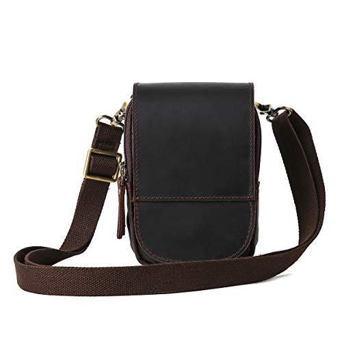413V6doEelL - Leathario Bolso Cinturón de Cuero de bandorela para Hombre-Riñonera Piel para Teléfono de 4~6 Pulgada Negro01