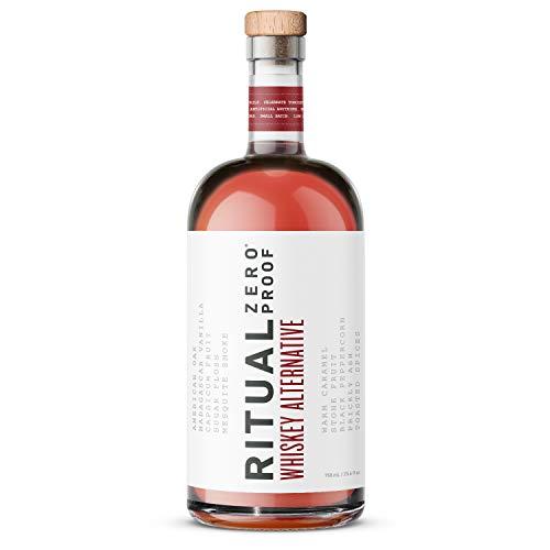 RITUAL ZERO PROOF Whiskey Alternative   Award-Winning Non-Alcoholic Spirit   25.4 Fl Oz (750ml)   Only 10 Calories   Keto, Paleo & Low Carb Diet Friendly   Make Delicious Alcohol Free Cocktails