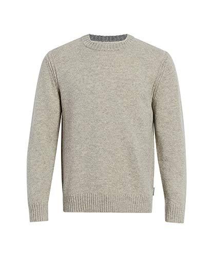 Woolrich Men's Kennebeck Shetland Wool Crew II Sweater, Arctic Gray Heather, Large