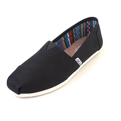 TOMS WOMEN ALPARGATA Black Canvas UK5.5