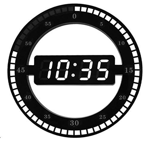 WALL CLOCK Reloj de mesa de salón silencio creativo digital reloj electrónico led reloj simple luminoso Rollsnownow