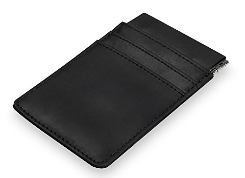 Porta - carte di credito Fermasoldi in pelle beLando - Fermasoldi con scomparto monete - Fermabanconote in pelle di qualità Premium con scomparto per carte di credito