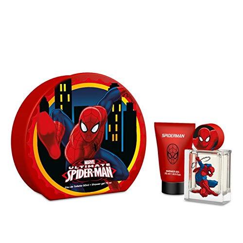 Mr White Jr Coffret Cadeau en Métal Spiderman pour Enfants Eau de Toilette 50 ml/Gel Douche 75 ml