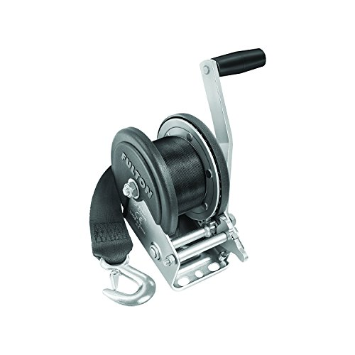 Fulton 142208 Single Speed Winch with 20' Strap and Cover - 1500 lbs. Capacity, 1 Pack