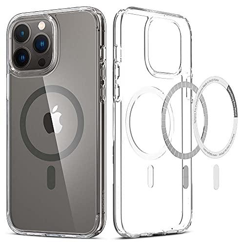 Spigen iPhone13 Pro Max 用 ケース MagSafe対応 マグネット搭載 2重構造 米軍MIL規格取得 耐衝撃 すり傷防止 マグセーフ 適用カバー 黄ばみ無し ワイヤレス充電対応 ウルトラ・ハイブリッド マグ ACS03211 (グラファイト)