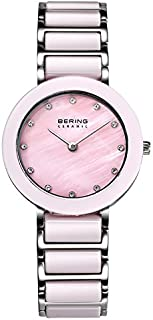 Bering 丹麦品牌 陶瓷系列 时尚镶钻陶瓷手表女品质手表防水女表石英表腕表