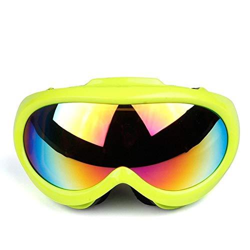 Gafas de Sol Gafas de esquí de Lente esférica Profesional antiniebla protección para los Ojos (Color : E)