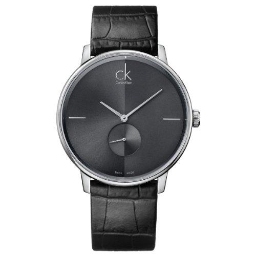 Calvin Klein Damen-Armbanduhr XS Accent Analog Quarz Leder K2Y231C3