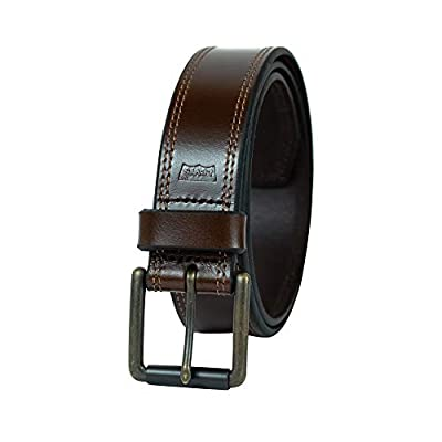 Levi's Men's 100% Leather Belt with Prong Buckle, Dark Brown, 40, Bridle Dark Brown
