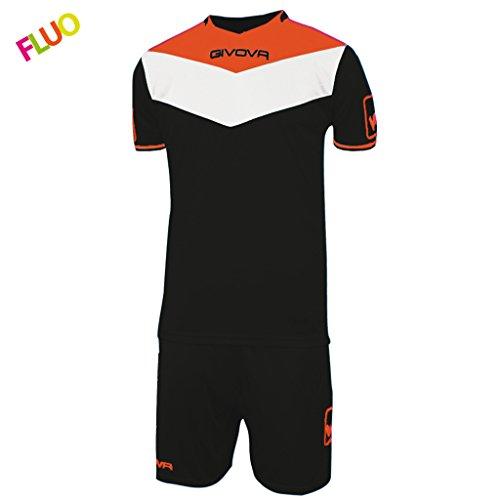 Givova, kit spielfeld fluo, schwarz/orange fluo, 2XS