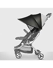Protector Solar Universal–Baby Capota para buggy & cochecito | XL de Pop Up Toldo con protección ultravioleta 40+ y funda–Gris