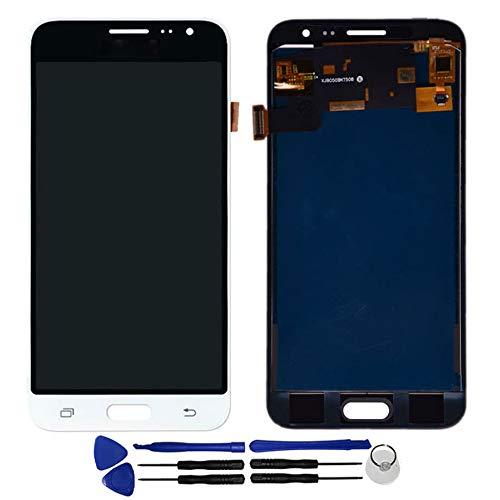 OYOG - Pantalla LCD de repuesto para Samsung Galaxy J3 (2016) J320FN J320F J320M (marco de bisel), color blanco
