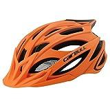 linfei Casco De Ciclismo Trail XC Casco De Bicicleta con Luz En Molde MTB Bike Helmet Road Mountain Helmet 59-62Cm Orange