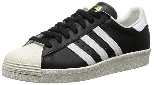 adidas Heren Superstar 80s Gymnastiekschoenen (zwart 1/wit/krijt 2), 7 UK