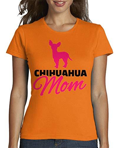 latostadora - Camiseta Madre de la Chihuahua para Mujer Naranja S