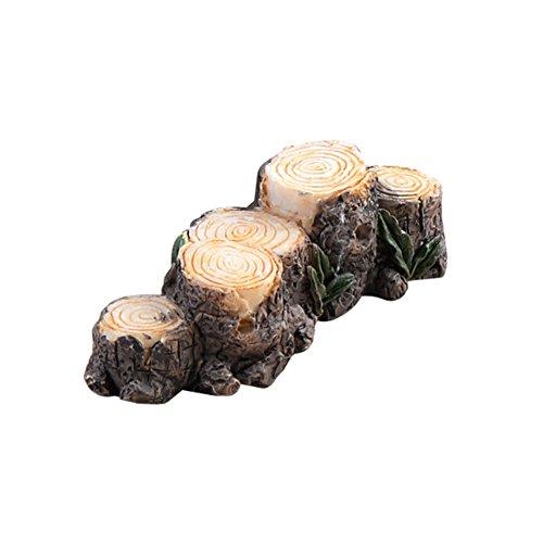 Steellwingsf Miniatur-Stumpf, aus Kunstharz, für Feengarten, Dekoration für Puppenhaus, Außenlandschaft