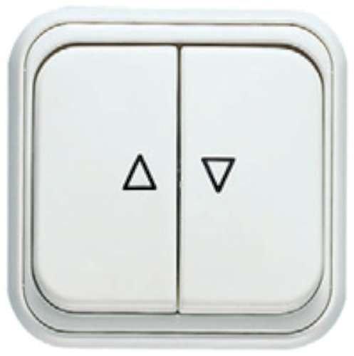 Niessen over - Interruptor persianas over blanco