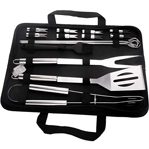 Best Review Of YALTOL Barbecue Tool Set 16pcs Cooking Combination Grilling Utensils Stainless Steel ...