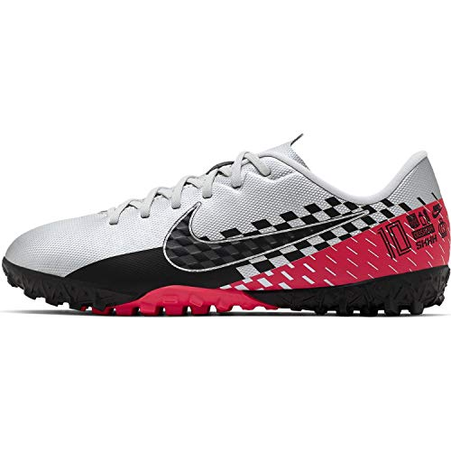 Nike Jr Vapor 13 Academy NJR Tf, Scarpe da Calcio Unisex-Bambini, Multicolore (Chrome/Black/Red Orbit/Platinum Tint 6), 33 EU