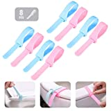 Silicone Toilet Seat Lifter Handle,Bathroom Closestool Cover Raise Handle,Water Closet Lid Lift Holder,Flush Toilet Top Lifting Belt,Clean/Hygienic/Stretchable/Washable/Thickened/Avoid Touching(8 Pcs)