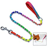 iwobi Hund Kette Leine Heavy Duty Hundeleine für große und kräftige Hunde, Bunt(3x100cm)