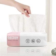 GothicBride Toallitas Secas de Algodón 100% US-Algodón Toallitas para Bebés Toalla Facial Desechable Algodón Natural y Biodegradable para Pieles Sensibles(1 cajas de 60 tabletas)
