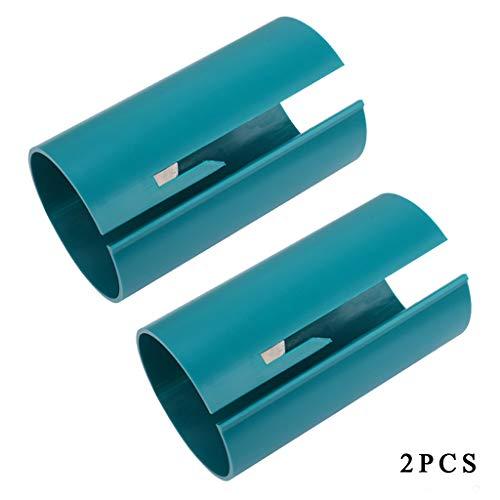 Caingmo Geschenkpapier-Schneider Schiebe-Schneider Schere Sicherheit Geschenkpapier Rollenschneider Schneidewerkzeug Geschenk (grün x 2)