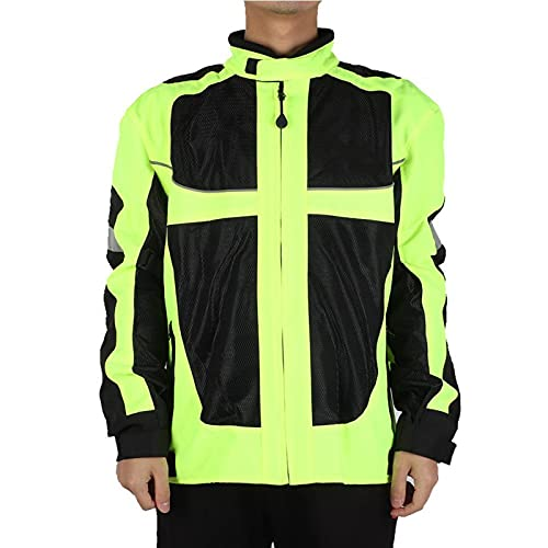 Mxzzand Fallfester, sonnengeschützter, zuverlässiger Sicherheitskittel Sicherheitskleidung Reflektierender Mantel für Mopeds für MTB zum Verstecken Sie die Alten Kratzer für Dirt Bike