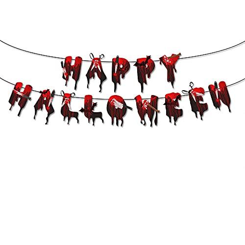 KOUQI Decoración De La Decoración De La Fiesta De La Tijera De La Bandera Decorativa El Texto sangrante Tira de la Bandera