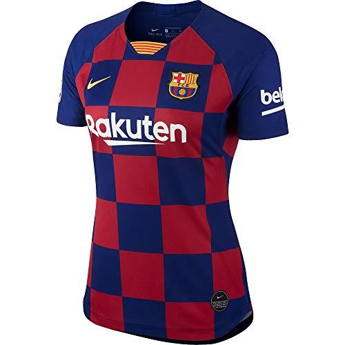 Nike Damen FCB W Nk BRT Stad JSY Ss Hm Unterhemd, tiefes Königsblau/Varsity-Mais, M