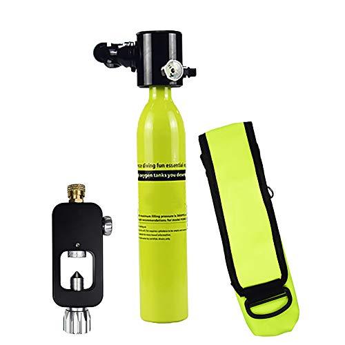 AUNLPB Scuba Box Ausrüstung, bewegliche Tauchen Sauerstoff Box, Mini Tauchflasche, Tauchausrüstung Zylinder, nachfüllbar Design, Pony-Flasche für Notfall-Backup