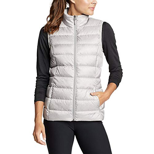 Eddie Bauer Women's CirrusLite Down Vest, Lt Gray Regular M