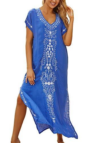 LikeJump Vestido de Playa Kaftan Kimonos Pareos Bohemia Cover Ups para Mujer