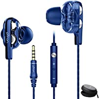 pTron Boom Ultima 4D Dual Driver, in-Ear Gaming Wired Headphones with in-line Mic, Volume Control & Passive Noise...