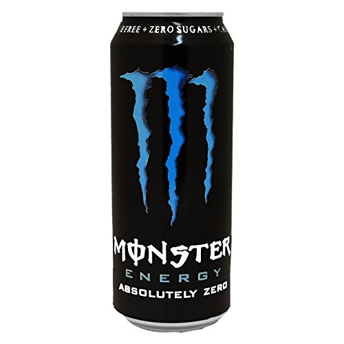 Monster - Absolutely Zero, Bebida Energética, Lata, Pack de 12x500 ml