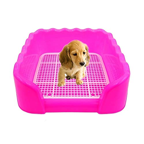 Haustier Pet Supplies Wave-Indoor-Haustier-Trainings-Behälter WC-Auflage Haustier Bedpan Gitter, Größe: 43,0 x 43,0 x 15,0 cm (Pink) (Color : Blue)