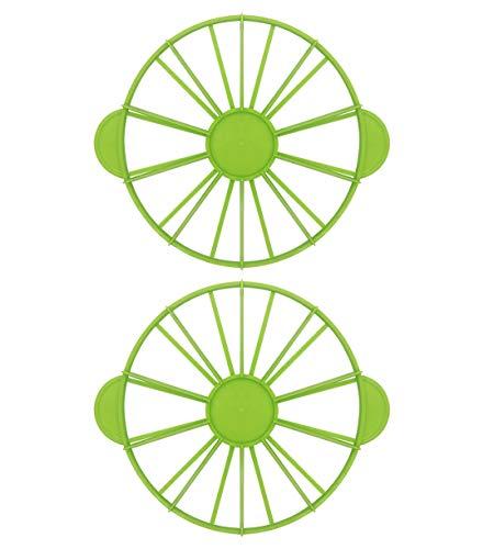 2 separadores de tartas para tartas de 10/12 piezas, divisor de marcador de porción igual, 2 lados, uno puede utilizarse para marcar 10 piezas iguales, el otro puede marcar 12 piezas iguales.