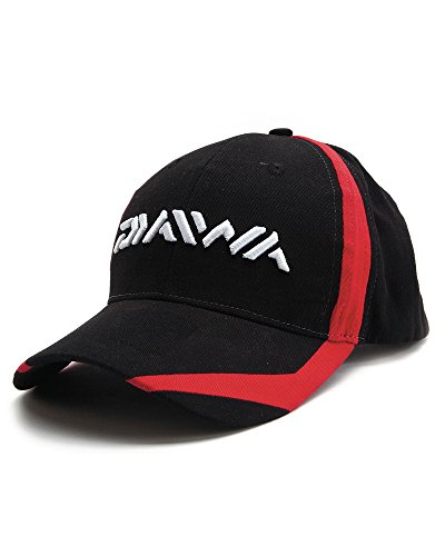 Daiwa Gorra De Pesca - DC3 Negro/Rojo, Black with Red Flash