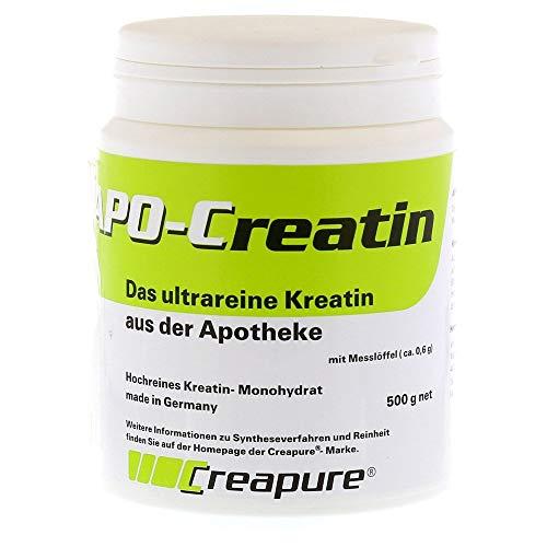 APO Creatin Pulver 500 g | hochdosiert reines Kreatin Monohydrat für Muskelwachstum | Creapure Kreatine für Kraftsport Fitness & Bodybuilding