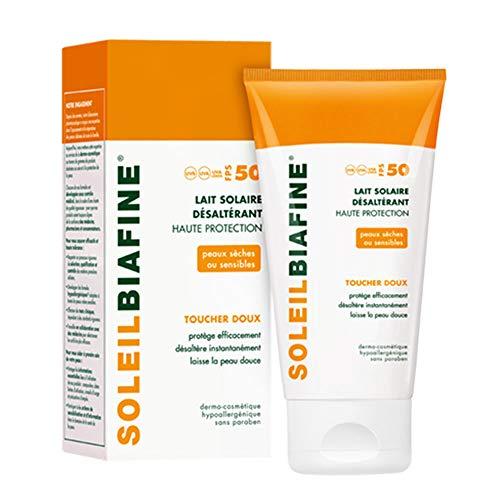 Cicabiafine - Lait Solaire Desalterant Toucher Doux Spf50+ Peaux Seches Ou Sensibles Soleil 150ml Biafine