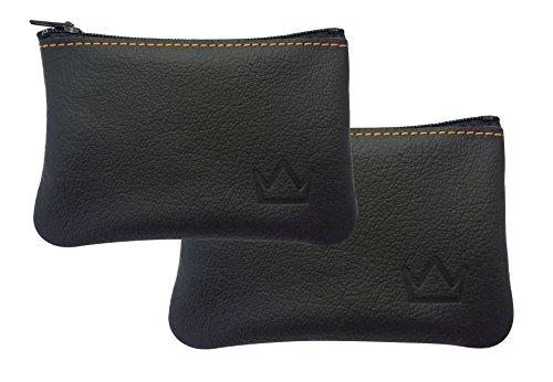 Lederprinz®   Schlüsseletui Leder schwarz 2 Stück   Schlüsseltasche Damen und Herren 3 Jahre erweiterte Garantie   Schlüsselmäppchen für Autoschlüssel   Handarbeit