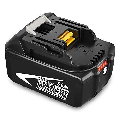 18V 5.0Ah BL1850B Reemplazo para Makita Batería 18V Herramientas inalámbricas LXT Batería BL1860 1860B BL1850 BL1840 BL1830 BL1820 BL1815 BL1845 BL1835 LXT400 con indicador LED