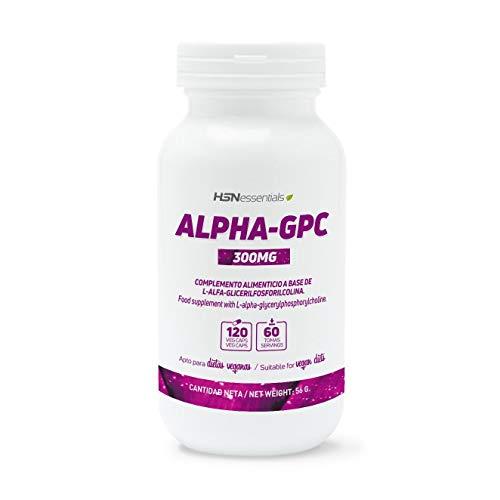 HSN - Alpha GPC | 300 mg L-Alpha-Glycerylphosphorylcholin | 2-Monats-Versorgung | Cholinquelle | Maximale kognitive Leistung | Vegan, glutenfrei, laktosefrei, 120 pflanzliche Kapseln