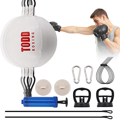Ananko Boxing Speed Ball,Boxing Reflex Ball Double End Ball Double End Punching Ball Include 20 Cable Ties, 2 Suction Cups and Ring Lock,with Training Gym Exercise Agility