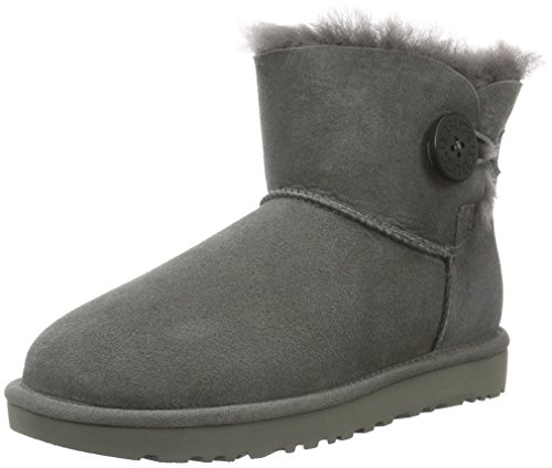 UGG Female Mini Bailey Button II Classic Boot, Grey, 7 (UK)