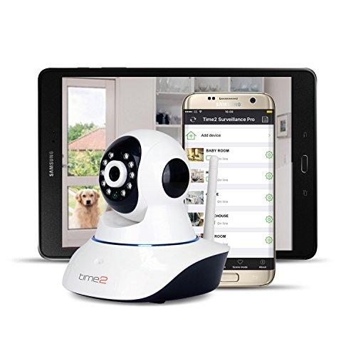 IP Camera Telecamera di sorveglianza WiFi Wireless Pan/Tilt 720P - Rilevatore di Movimenti e Suoni - Registrazione HD, Visualizzazione remota, Giorno e Notte [VersioneAggiornata]