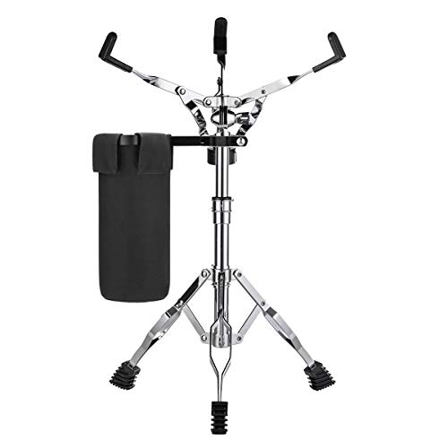 Snare Stand & Drum Sticks Holder, Lightweight(5lb),Double braced tripod construction,for 10 to 14 Inch Snare Drums