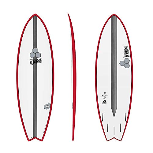 Channel Islands X-lite Pod Mod 5.10 - Tabla de surf, color rojo
